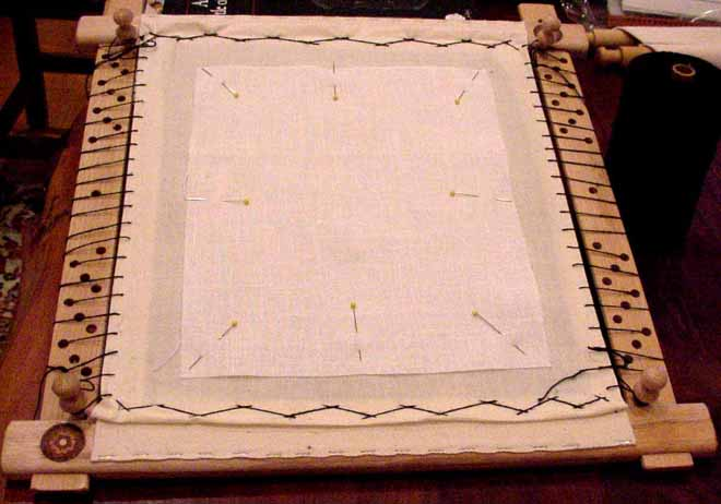 dressing a slate frame all about tension - Embroidery Frames